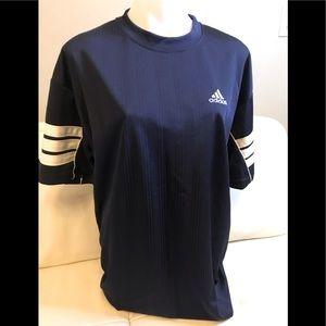 Men's Adidas Blue Crew Neck Top